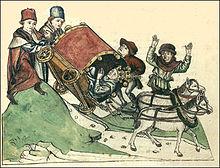 Accident-de-la-route-au-Moyen-Âge